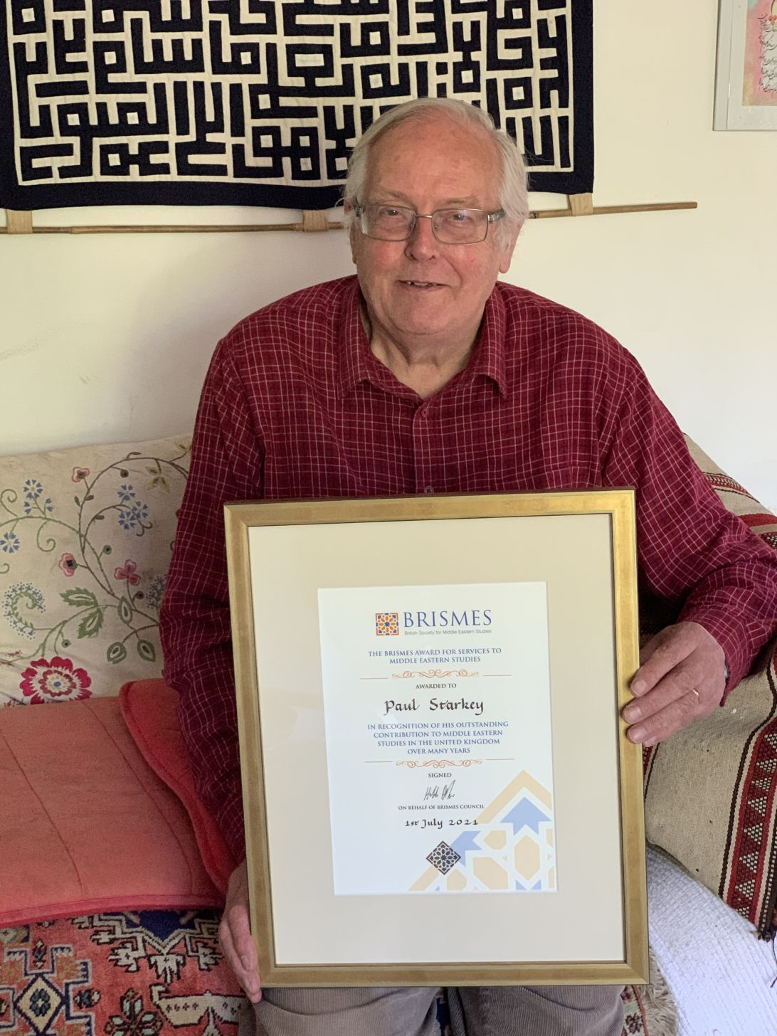 Paul Starkey Receives Award for Services to Middle Eastern Studies